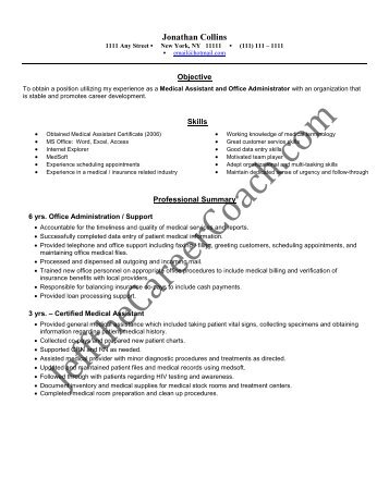 download the Medical Assistant Resume Sample Two in PDF.
