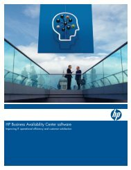 HP Business Availability Center software-Improving ... - Zift Solutions