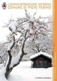 Anno IV - Numero 2 - Dicembre 2010 - Comune di Pieve Tesino