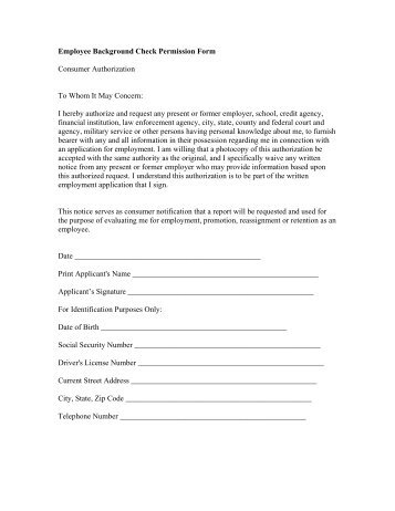 Employee Background Check Form - Architect's Security Group, Inc.