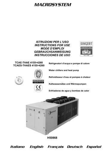 H50868-ed04 Manuale Istr. TCAE_S-THAE_S 4155-4260 - Rhoss