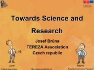 Towards Science and Research