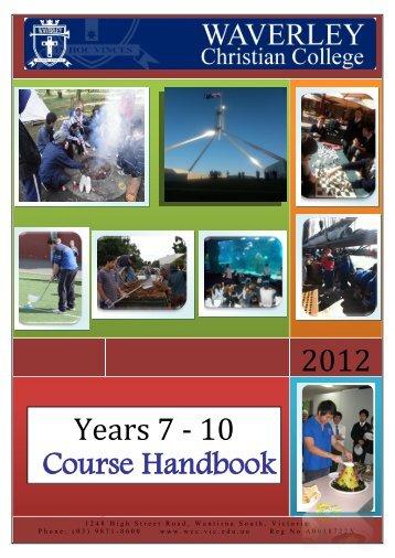 Years 7 - 10 - Waverley Christian College
