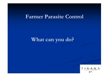 Farmer Parasite Control What can you do?