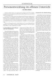 Artikel – Offener Unterricht - Dr. Eva Maria Waibel