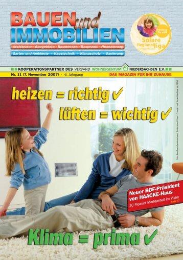 7. November 2007 - Bauen Wohnen Immobilien