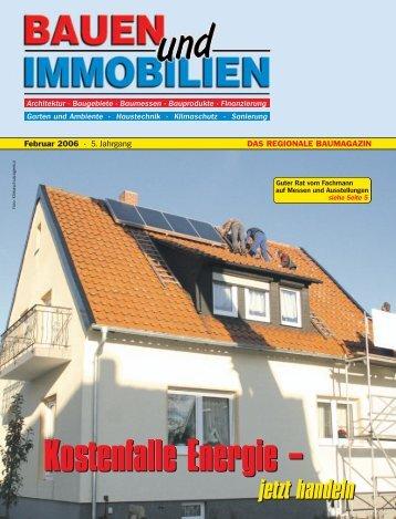 Kostenfalle Energie - Bauen Wohnen Immobilien