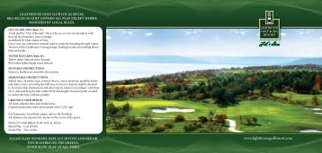 Score Card - Lighthouse Golf Resort