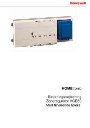 Brugsvejledning til Honeywell HCE60 gulvvarmestyring