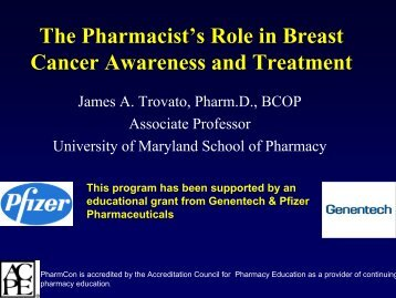 The Pharmacist's Role in Breast Cancer Awareness and Treatment