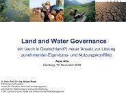 Land and Water Governance - Lehrstuhl für Bodenordnung und ...