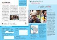 terre des hommes (Hg.): Projektland Peru.