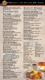 View Breakfast Menu - Don Hall's