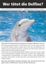 Wer tötet die Delfine? - Schweizerische Vereinigung für Vegetarismus