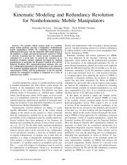 Kinematic Modeling and Redundancy Resolution of Nonholonomic ...