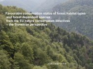 Favourable conservation status of forest habitat types ... - Natura 2000