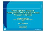 The Importance of E-Ticketing to Public Transport in Romania - URTP
