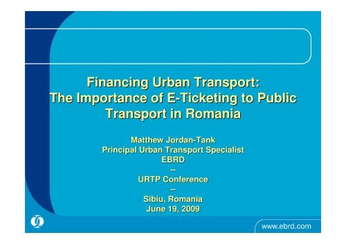 The Importance of E-Ticketing to Public Transport in Romania
