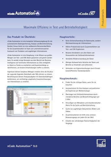 Produktbroschüre (PDF) - HBM nCode