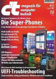 c't magazin für computer technik 15 vom 1.7.2013 - since