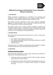 Ethical governance protocol for Tower Hamlets Homes contracts