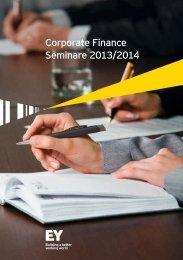 Corporate Finance Seminare 2013/2014 - Schweiz