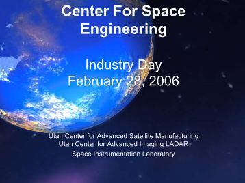 CSE Overview - Center for Space Engineering - Utah State University