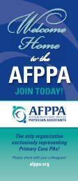 JOIN TODAY! - Association of Family Practice Physician Assistants