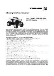 Hintergrundinformationen 2011 Can-Am Renegade 800R EFI ATV ...