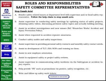 Safety Committee Duties and Functions