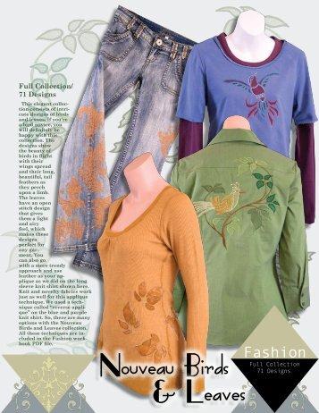 Nouveau Birds & Leaves - Anita Goodesign