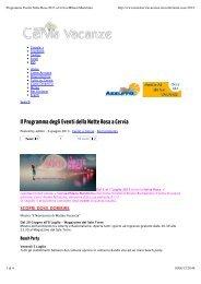 Programma Eventi Notte Rosa 2013 a Cervia ... - Andrea Speziali