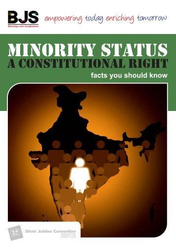 Minority Status Brochure - Bharatiya Jain Sanghatana