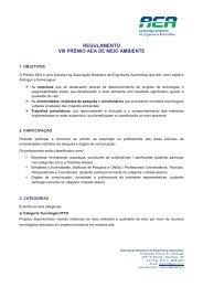 regulamento para a participação - AEA – Associação Brasileira de ...