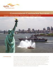 Government Contractor Services - Agility