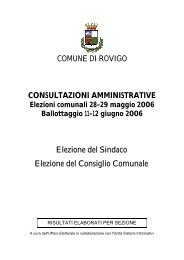 Comunali 2006 pdf - Comune di Rovigo