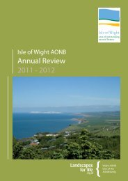Annual Review 2011 - Isle of Wight Area of Outstanding Natural ...