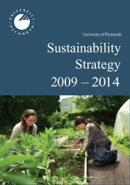 Sustainability Strategy 2009 – 2014 - Plymouth University