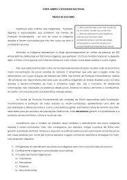 CARTA ABERTA À SOCIEDADE NACIONAL PEDIDO DE ... - EBC