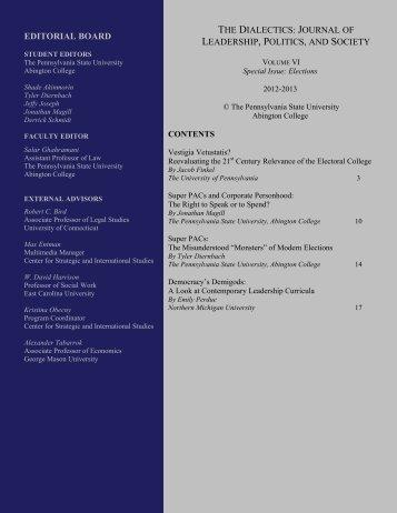Vol. VI - Penn State Abington