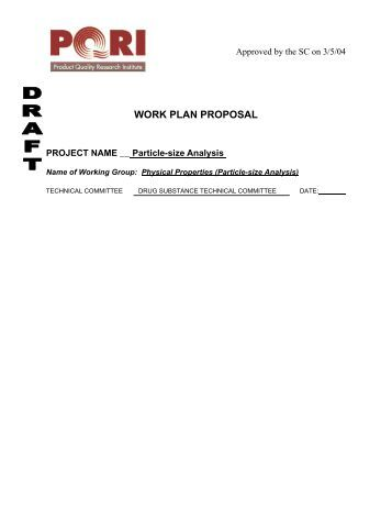 Excipient Control Strategy Work Plan Pdf  Pqri