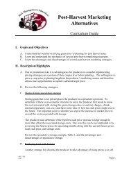Post-Harvest Marketing Alternatives (Curriculum Guide)