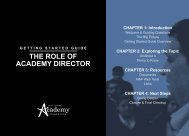 THE ROLE OF ACADEMY DIRECTOR - National Academy Foundation