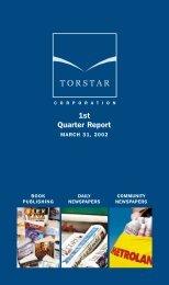 1st torstar quarter/02