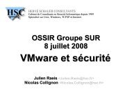 VMware et sécurité - OSSIR