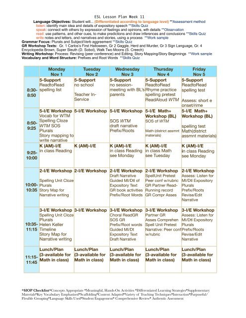 ESL Lesson Plan Week 11 pdf - eslriverside