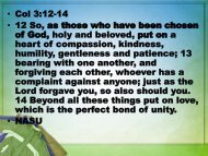 Col 3:12-17 - Graymere church of Christ