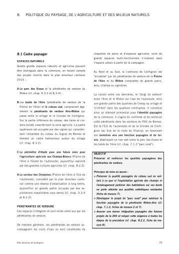 Politique du paysage, de l'agriculture et des ... - Etat de Genève