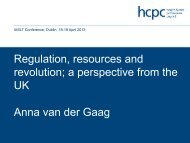 Regulation, resources and revolution; a perspective from the UK ...