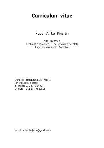 Bejarán, Rubén - Departamento de Ciencias de la Atmosfera y los ...